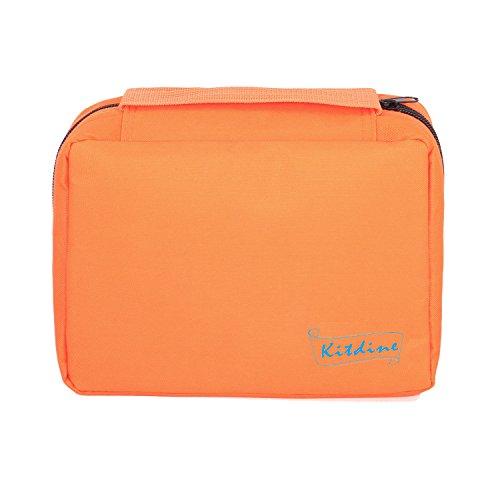 Borsa da bagno da viaggio - Kitdine Medio Per Uomini & Donne/Appendiabiti / Organizzatore da viaggio – Beauty case (Arancione)