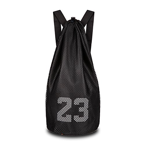 hnjzx bolsa mochila gimnasio bolsa lona deporte viaje bolso de hombro bolsas escuela mochila grande con cremallera para adolescentes adultos, negro