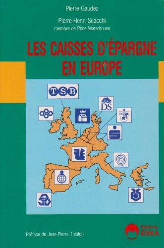 Les caisses d'épargne en europe