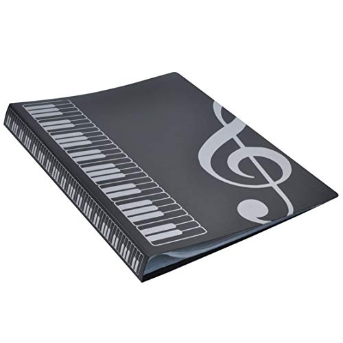Transparent Convex Light (80 Sheets A4 Music Book Folders Piano Score Band Choral Insert-type Folder Music Supplies Waterproof File Storage Product)