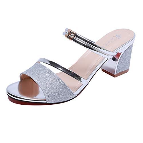 5fd0bda0fa5517 Lilicat Donna Estate Scarpe col Tacco Stiletto Elegante Cinturino Caviglia  Alto Pompe Partito Sandali alla Festa