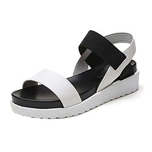 Frauen Sommer Beleg auf Schuhen Peep-Toe Flache Schuhe Römersandalen Mujer Alias Damen Flip Flops Sandale