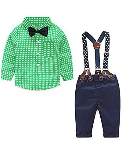 Conjuntos Bebé Niños Camisa Pantalones Tirantes