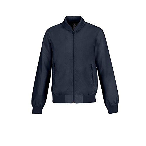 B&C Herren Trooper Bomber-Jacke, leicht Rot/warmes Grau