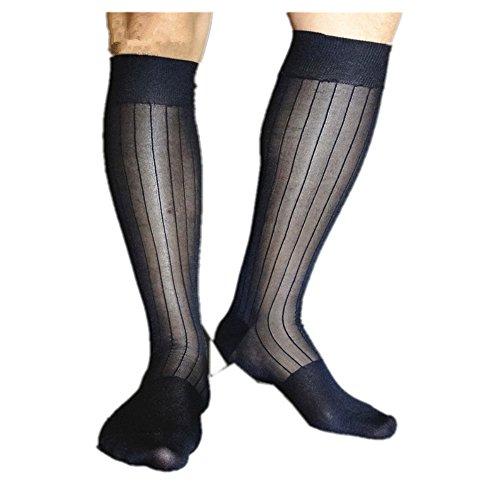 MS Herren Nylon Sexy Knee High Lange Sheer Socken (Nylon-sheer High Socken Knee)