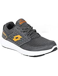 LOTTO MEN FUSTAL GREY/ORANGE RUNNING Shoes 8 UK/INDIA