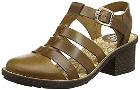 Fly London Celo511, Sandales Bout Fermé Femme, Marron (Camel 009),