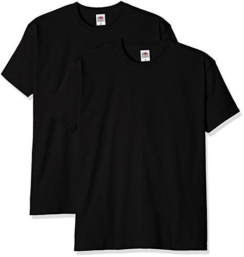 Fruit of the Loom Herren T-Shirt Super Premium T Schwarz (Black)