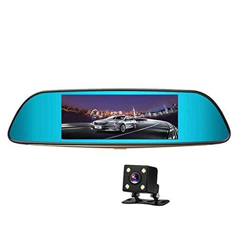 ZHY Rückspiegel-Fahrschreiber, 170 ° große Weitwinkel-Parküberwachung Rückansicht intuitiver weniger Fehler 1080P HD Anti-Glare Blue Mirror
