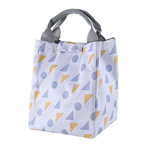 Dtuta Mode Neue Tragbare Wasserdichte Klettverschluss Picknick Schule Lunchpaket Falten BüRo Einfaches Muster (Tupperware 12 Stück)