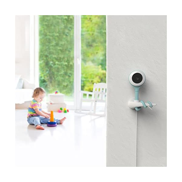 Lollipop - Smart Baby Monitor (Turquoise)  [Short Live Feed Latency] - 1 second latency with good WIFI signal under same WIFI, generally  6