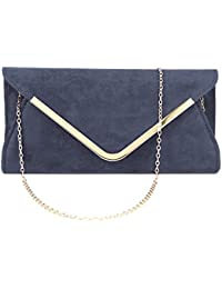 Anladia Femme Sac soiree nuptiale faux suede Sac a main Party Prom embrayage