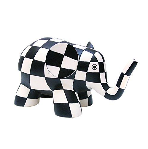 Plastoy 80030 - Hucha de elefante, color blanco y negro
