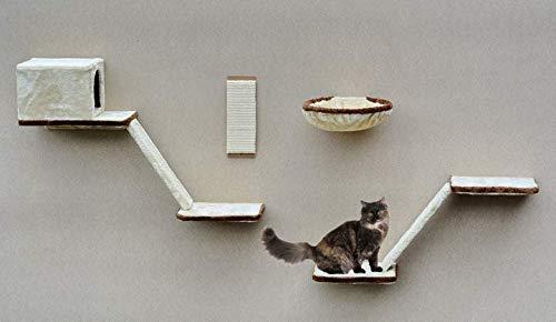 Silvio Design Set d'étagères pour Chat 8 pièces Gris*