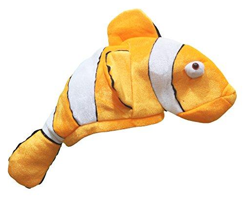 Petitebelle Clown Fish Hat Unisex Costume Free Size (Orange) (Clown Fisch Erwachsene Kostüme)