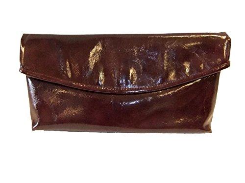 Unbekannt Estelle Damen Clutch Abendtasche Lack Optik 7230 darkviola
