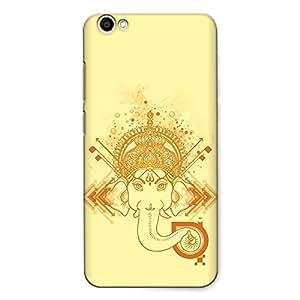 CrazyInk Premium 3D Back Cover for Vivo Y67 - Ganesha_Watercolor
