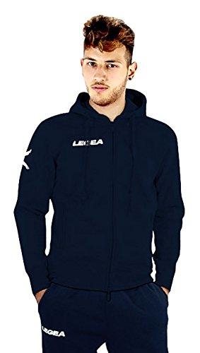 LEGEA Oregon Trainingsanzug mit Kapuze langärmlig XL Bleu/Bleu (Mit Baumwolle Rugby Kapuze)