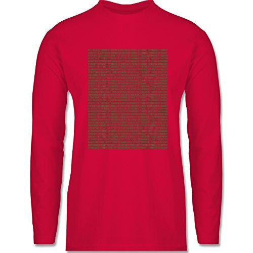 Shirtracer Programmierer - Binärcode - Herren Langarmshirt Rot