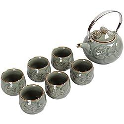 Teekanne Antike Wasserkocher Celadon Porzellan Teetasse Teekanne