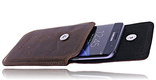 Burkley - Vintage Design - Leder Handyhülle für Apple iPhone 8 (4.7 Zoll) Gürteltasche | Schutzhülle | Handytasche | Vertikal-Tasche | Holster | Case | Cover | Hülle mit Gürtel-Schlaufe (Kaffee Braun  kaffee braun / coffee brown
