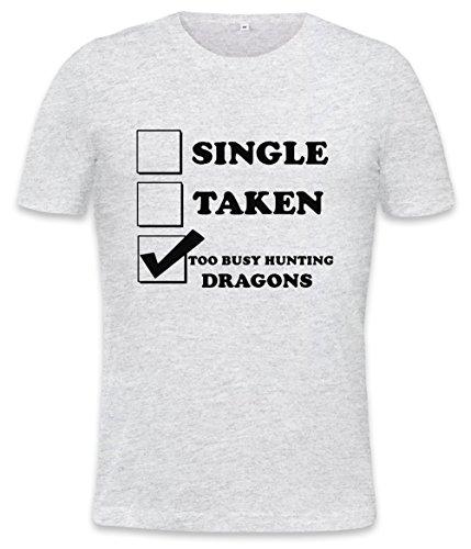Single Taken Too Busy Hunting Dragons Mens T-shirt XX-Large