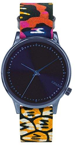 Reloj infantil de cuarzo con para mujer Komono azul esfera analógica y  correa de piel KOM de165790e48