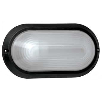 LAMPADA DA ESTERNO IN POLICARBONATO E27 NERO IP54
