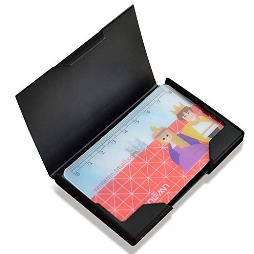 Visitenkartenbücher & -karteien Card Case Card Box Schwarz Titanium Card Case Kostenlose Visitenkarte Fall Männer und Frauen Business Fashion Personality Kreative Karte Fall Einfache Edelstahl Visiten