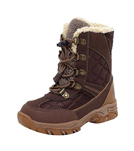 Kinder Winterstiefel Schneestiefel Outdoor Stiefel Snowboot Boots für Mädchen Jungen BRAUN Gr. 31
