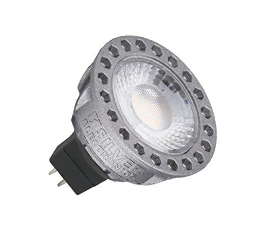 Silver Electronics Ampoule LED dichroïque à culot GU5.3, compacte, 8 W, gris