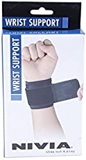 (CERTIFIED REFURBISHED) Nivia Wrist Support, Pack of 2 (Black)