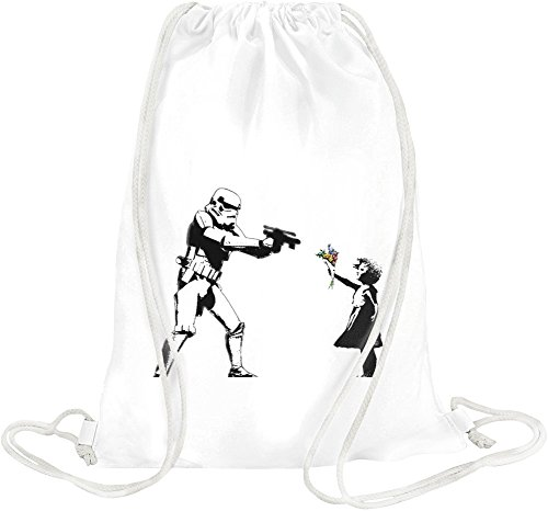 Banksy Star Wars And Little Girl Drawstring bag -