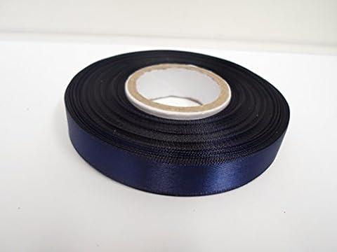2 Meter 15mm Satinband, marine, dunkelblau, doppelseitige, Bevorzugungen, Dekorationen, Ostern, Weihnachten, Handwerk 15 mm