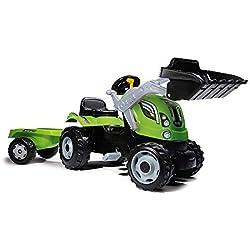 Smoby - 710109 - Tracteur Farmer Max + Remorque