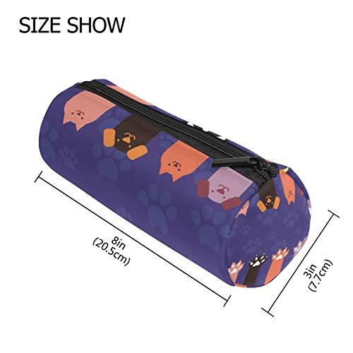 TIZORAX Federmäppchen für Katzen, Hunde, Pfoten, Krallen, Reißverschluss, für Münzen, Make-up, Kostüm-Tasche für Damen, Mädchen, Jungen, Kinder