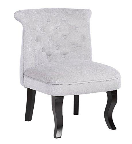 HTI-Line Französischer Sessel Antoinette Barockstil Sessel Vintage Grau