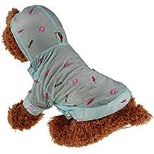 Livecity labbro stampa cane con cappuccio di protezione solare a maniche lunghe cappotto Pet Rash Guards