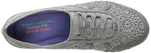 Skechers Breathe-easy meadows, Baskets Basses femme Grey Meadows