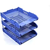 3cartas y documentos, tamaño A4archivador de escritorio bandejas + elevadores–Apilamiento Paper- oficina papelería