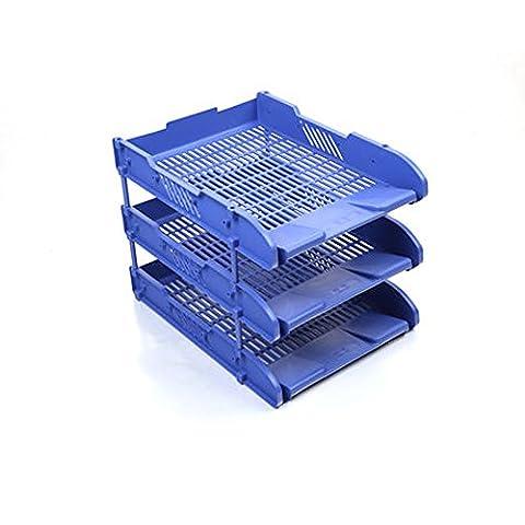 3 A4 Lettre Classement Bureau plateaux + espaceurs - empilage Papier- Bureau Papeterie