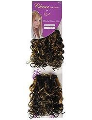 chear Water Wave 2en 1trame Extension de cheveux humains avec de mélange tissage Nombre P1B/27, Off Noir/auburn...