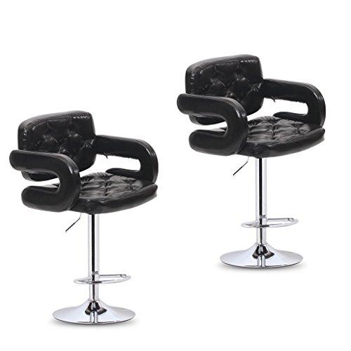Xueping sedia girevole sedia da ufficio sgabello da bar sgabello da bar/ristorante cucina sgabello da bar/sedia con braccioli regolabili sgabello alto (colore : b, dimensioni : due)