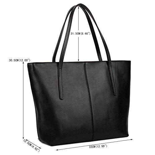 750ad2bc81 Yaluxe Donna Borse a mano per lavoro /scuola/ viaggio Vero Pelle shopper  Stile semplicemente ...