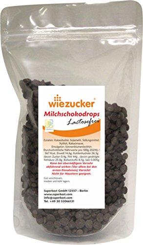 Superkost Schokodrops, nur mit Xylitol gesüßt, ohne Zuckerzusatz, Soyamilch 500g, Laktosefrei, Vegan