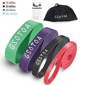 GSOTOA Fitnessbänder Gymnastikbänder, Resistance Bänder aus Naturlatex, Verschiedene Stärken Widerstandsbänder, Premium Trainingsbänder für Yoga und Fitness