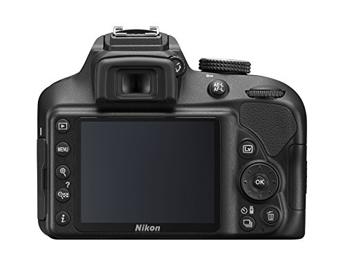 "Nikon D3400 cuerpo - Cámara réflex digital de 24,2 Mp (pantalla LCD 3"", vídeo Full HD), color negro [Versión Europea]"
