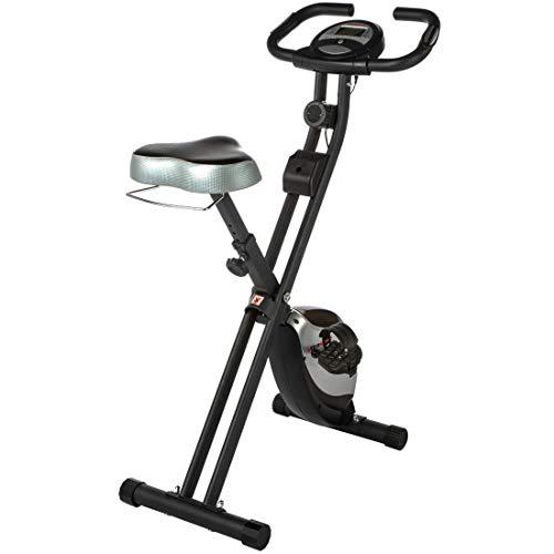Ultrasport F-Bike Heavy, Bici da Fitness con Computer di Allenamento e Sensori delle Pulsazioni, Pieghevole, Peso Massimo Utente Fino a 130 kg Unisex – Adulto, Nero/Argento