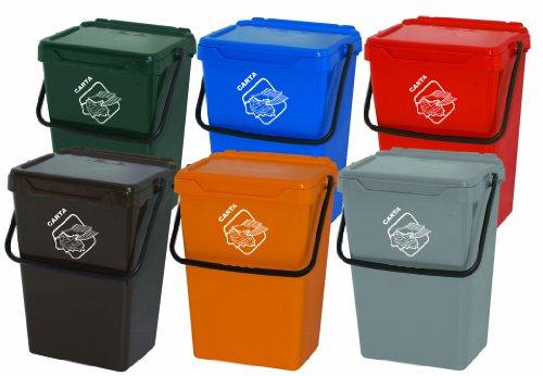 & Art Plast BS35/V Cassonetto da 35 litri per la raccolta differenziata in plastica, verde miglior prezzo