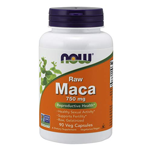 Now Foods Maca roh 750 mg 90 pflanzliche Kapseln